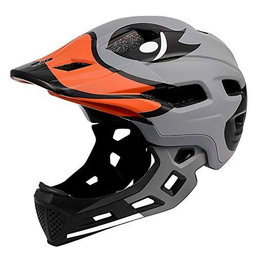 DYOYO Casco Integral Niños Helmet Bicicleta MTB BMX Montaña Ajustable Desmontable Ciclismo...