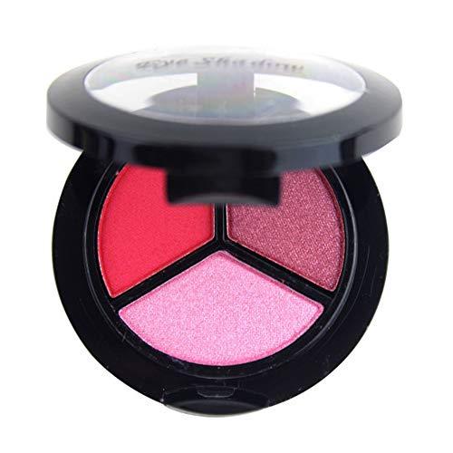 PinkLu Lidschatten Palette,3 Farben Lidschatten Pallete Texturierte Faced Matte Pearl Makeup Lidschatten Geeignet FüR AnfäNger Erschwinglich Einfaches Lidschatten-Tablett