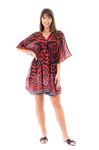 Looking Glam Vestito Estivo Oversize da Donna Beach Kimono a Tunica Leggera Kimono con sottotuta in Caftano