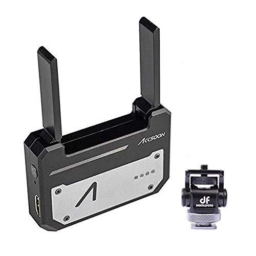 Accsoon Cine Eye 1080p WiFi HDMI Transmitter 5G Drahtlose Bildübertragung zu 4 Geräten in Einer Entfernung von 100 m, Unterstützung von Android und iOS, Garyscale, RGB, Falschfarben,