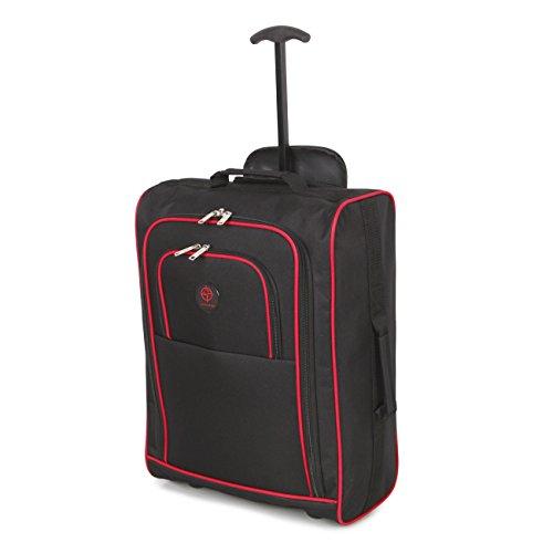 Cabina approvato multiuso bagaglio a mano di volo / bagagli zaini trolley (nero / rosso)