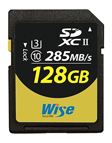 Wise SDXC UHS-II メモリーカード 128GB Class10 V90 UHS-II対応 読み取り285MB/s 書き込み250MB/s (AMU-SD2-128U3)