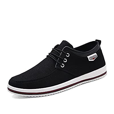 VICULA Men's Canvas Shoes Casual Breathalbe Shoes Lightweight Shoes Leisure Lazy Shoes Outdoor Walking Shoes