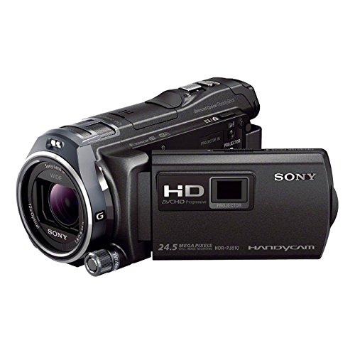 Sony HDR-PJ810E Videocamera Handycam, Sensore CMOS Exmor R da 4,6 mm retroilluminato, Obiettivo grandangolare G con Zoom Ottico 12x, Proiettore Integrato, Nero