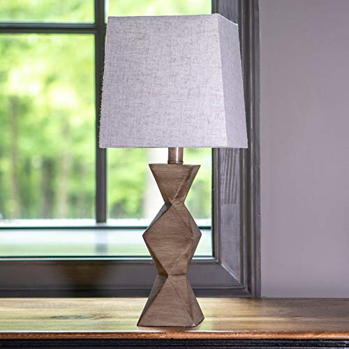 Knox Stacked Diamond Lamp Desert Brown - Decor Therapy