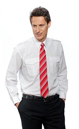 Nordhandel Weiße Pilotenhemden, Langarm mit Steg, Größe 43/44 (XL)