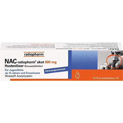 NAC-ratiopharm akut 600 mg Brausetabletten, 20 St. Tabletten
