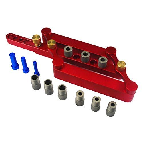 Herewegoo Zelfcentrerende Verticale Punch Locator Kit Positionering Fixture 6/8/10MM Boren Houtbewerking