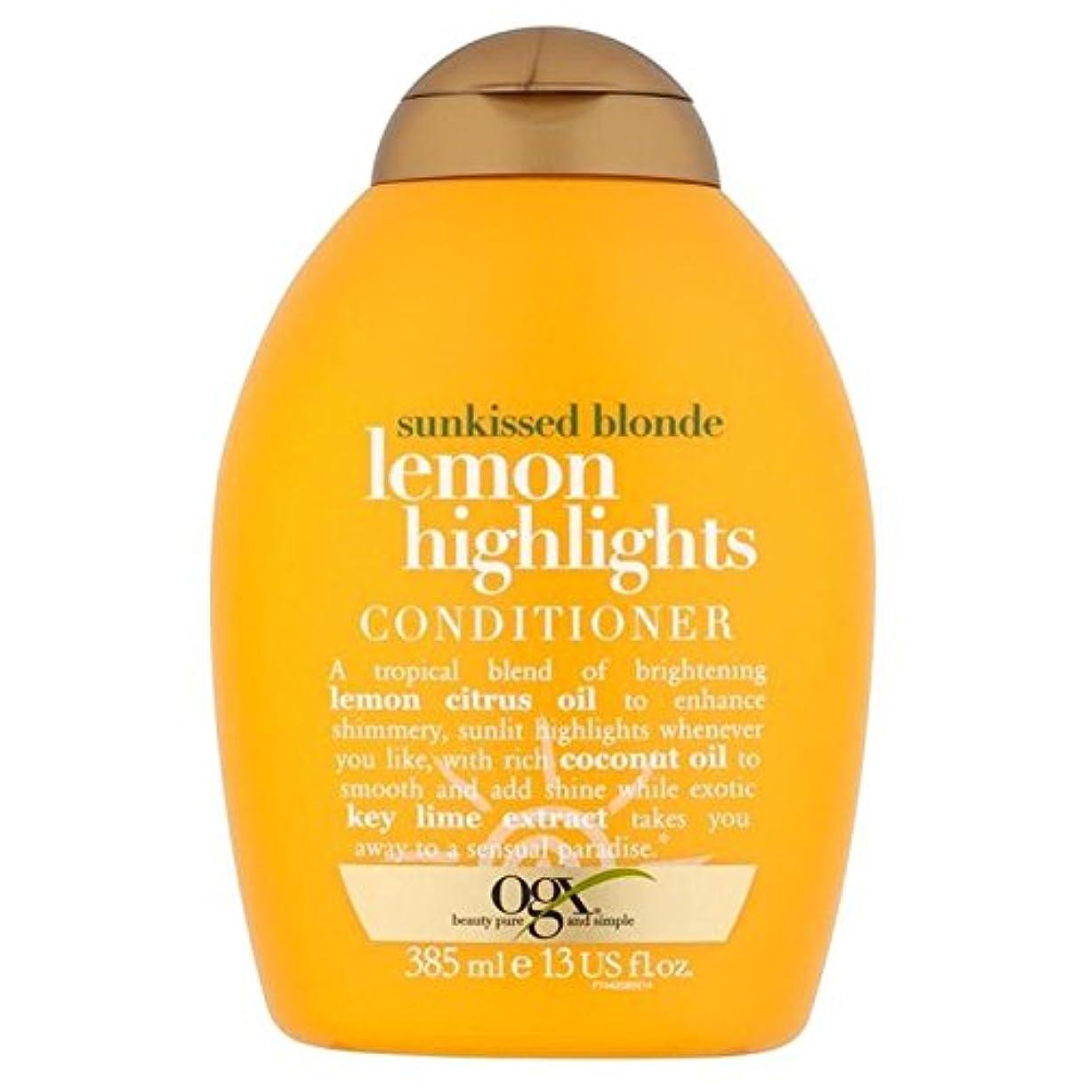 欲しいですシェルター大惨事ブロンドレモンハイライトコンディショナー385ミリリットル x4 - Ogx Blonde Lemon Highlights Conditioner 385ml (Pack of 4) [並行輸入品]