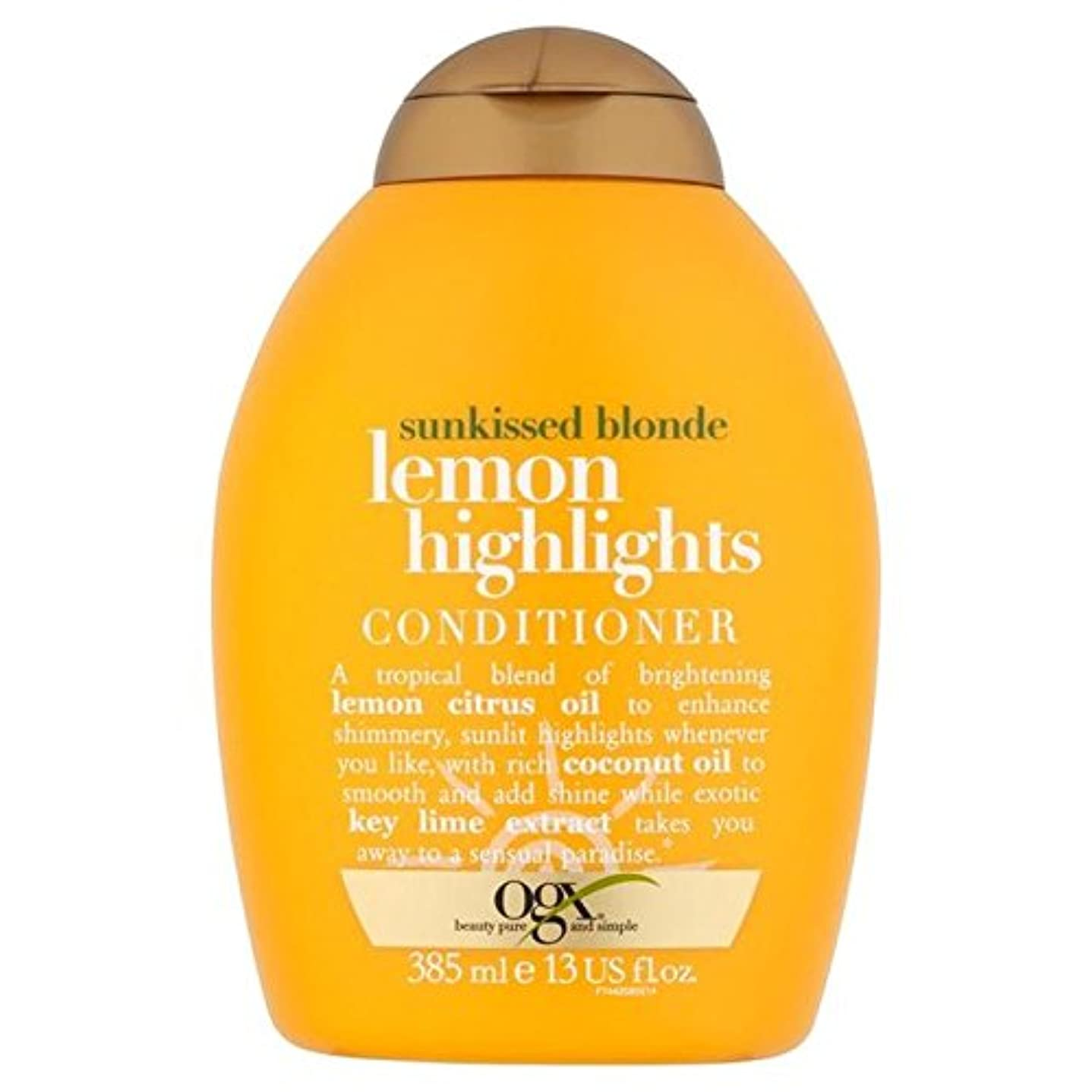 医薬品吹きさらし大混乱Ogx Blonde Lemon Highlights Conditioner 385ml - ブロンドレモンハイライトコンディショナー385ミリリットル [並行輸入品]