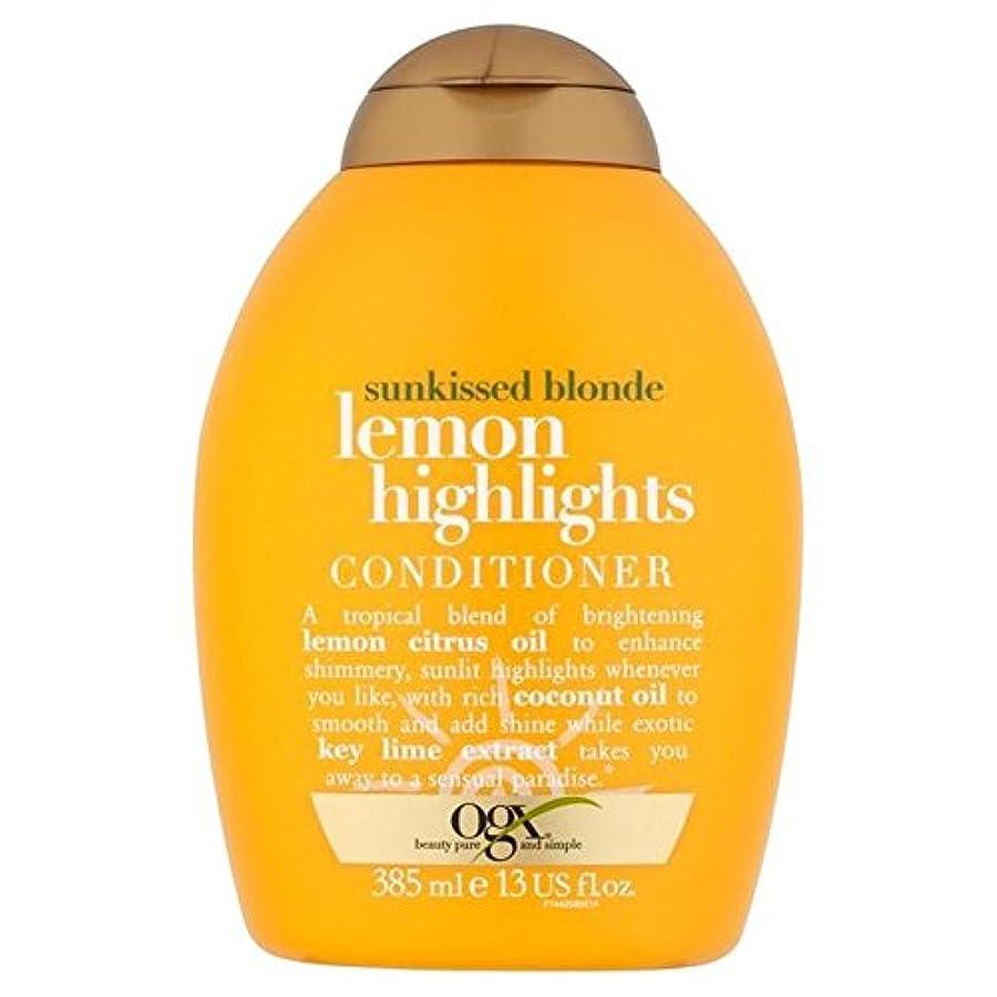 うつ人柄棚ブロンドレモンハイライトコンディショナー385ミリリットル x2 - Ogx Blonde Lemon Highlights Conditioner 385ml (Pack of 2) [並行輸入品]