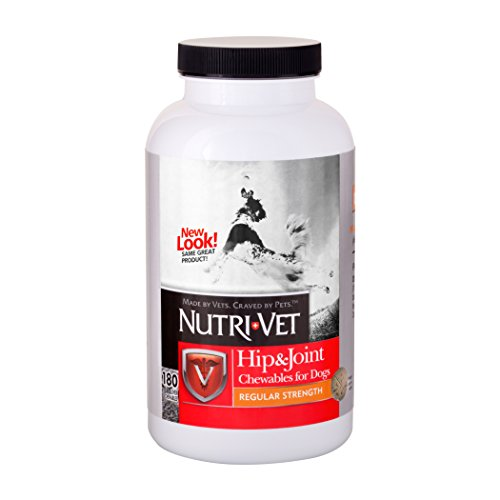 Nutri-Vet Hip & Joint Chewable Dog Supplements | Formulated with Glucosamine & Chondroitin for Dogs | 180 Count