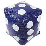 3C Design 大きいサイコロ ジャンボサイコロ 巨大サイコロ 特大サイコロ サイコロ PVC ビニール 軽量 ジャンボ イベント パーティー 60cm パープル 紫