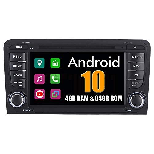 Roverone 7 Pouces Android System Octa Core pour Audi A3 S3 2003-2011 avec Lecteur DVD de Voiture Autoradio Navigation GPS Radio stéréo Bluetooth Mirror Link écran Tactile