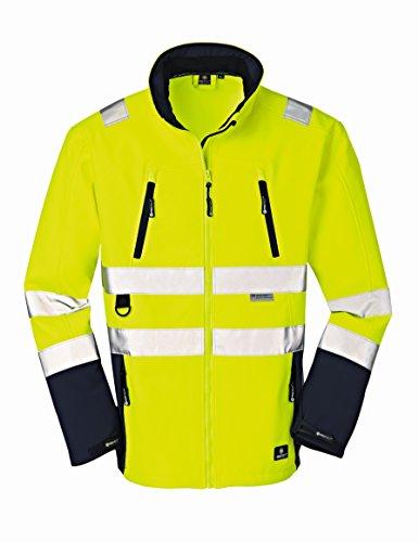 4Protect 20-003476-XL 4 Protect Warnschutz Softshelljacke PITTSBURGH 3476 Wetterschutzjacke XL, gelb/blau