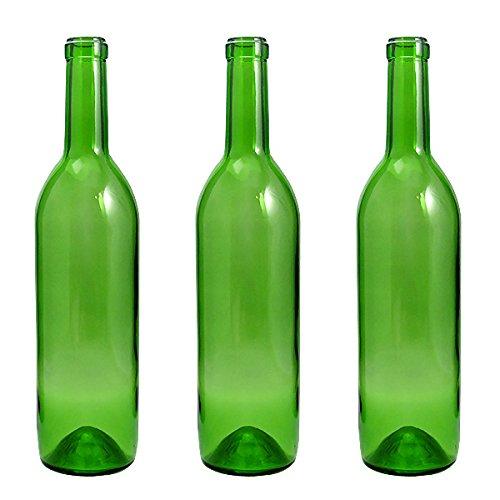 ワイン720 木口 グリーン ワイン瓶720ml 3本セット