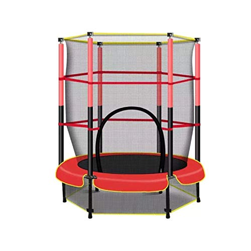 XXY 6FT Trampoline Home Children Interior Outdoor Large con Safety Net Natury Bungee Jumping Bed Al Aire Libre Fitness Trampoline (Color : Round)