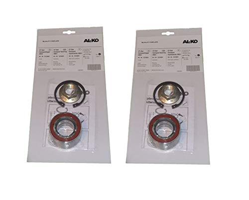 FKAnhängerteile 2 x ALKO Radlager 1224801 Lager 64/34x37 mm + Zubehör - Kompaktlager Ecolager