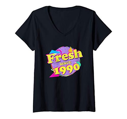 Donna 1990 regalo stile anni 90 31° compleanno Maglietta con Collo a V