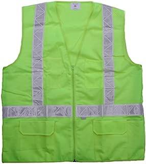 Carolina Glove & Safety 40015 Fluorescent Green Safety Vest, Class 2, 3XL, Fluorescent Green