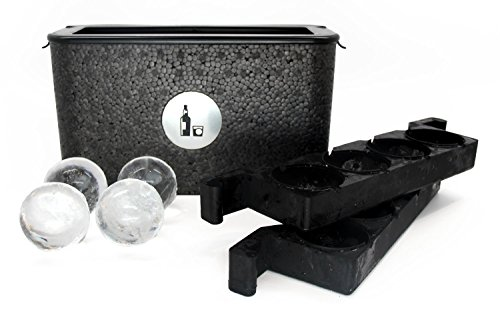 Wintersmiths Chest Clear Ice Tray, 7 3/8'H x 4 7/8'W x 13 3/8'L, Black