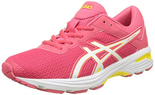 Asics Gt-1000 6 Gs, Scarpe Running Unisex-Bambini, Rosso (Rouge Red / White / Vibrant Yellow), 39.5 EU