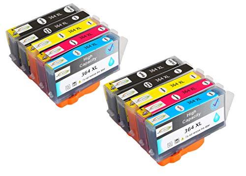 Reemplazo de Paquete de 10 Wintinten para Cartuchos de Tinta HP 364 364XL compatibles con impresoras HP Photosmart C5324, C5370, C5373, C5380, C5383, C5388, C5390, C5393, C6300, C6324, C6380