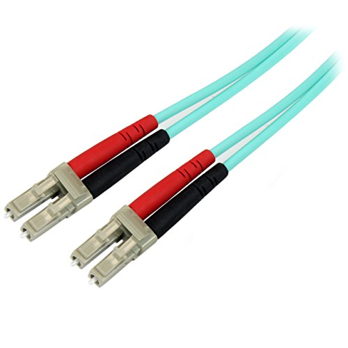 StarTech.com 1m OM4 Duplex Multimode Glasfaserkabel - Türkis - 100 Gb - 50/125 - LSZH - LC/LC LWL Netzwerkkabel