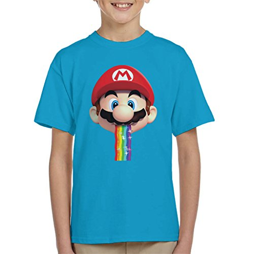Super Mario Mario Puking Rainbow Snapchat Filter Kid's T-Shirt