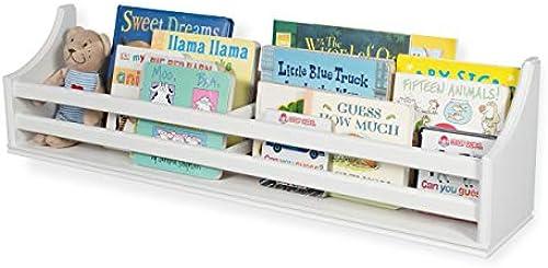 Brightmaison Kinder-Wandregal aus Holz, Mehrzweck, 76,2 cm, Bücherregal, Spielzeug, Aufbewahrung, Organizer im traditionellen Landhausstil, fertig montiert (Weiß)