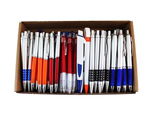 S & E TEACHER'S EDITION 100 Pcs Wholesale Ballpoint Pens, Ink Pens, Retractable, Plastc.