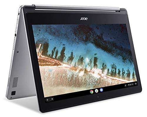"2020 Acer Chromebook R13 13.3"" 2-in-1 Full HD IPS Touchscreen Convertible Laptop PC, MediaTek MT8173C Quad-Core Processor, 4GB RAM, 64GB SSD, HDMI, Wi-Fi, Bluetooth, Webcam, Chrome OS, Silver"
