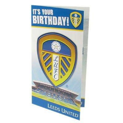 Officiële Leeds United FC Verjaardagskaart - Een geweldig verjaardagscadeau / cadeau voor mannen, jongens, zonen, echtgenoten, vaders, vriendjes of een fanatieke voetbalfan