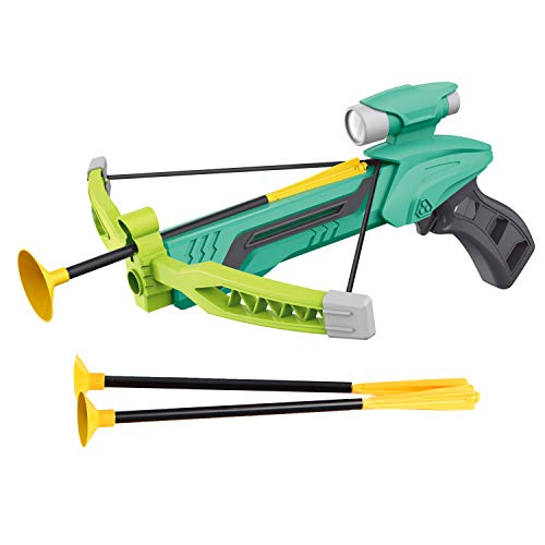 Pro Star Mini Green Archery Bow with Target Set, Safe Foam Dart Arrows | Kids Crossbow Toy