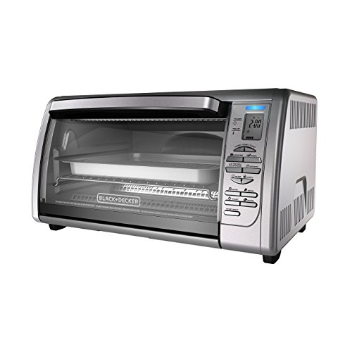 BLACK+DECKER Countertop Convection Toaster Oven, Silver, CTO6335S (Renewed)