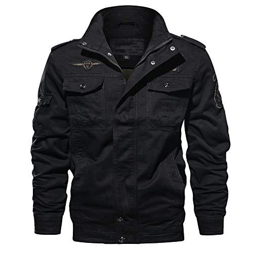Herren Jacke Reißverschluss Bikerjacke Vintage Warm Mantel Jacket Stehkragen Outdoorjacke Herbst Windjacke Winterjacke männer jacken übergangsjacke mäntel Wintermantel CICIYONER