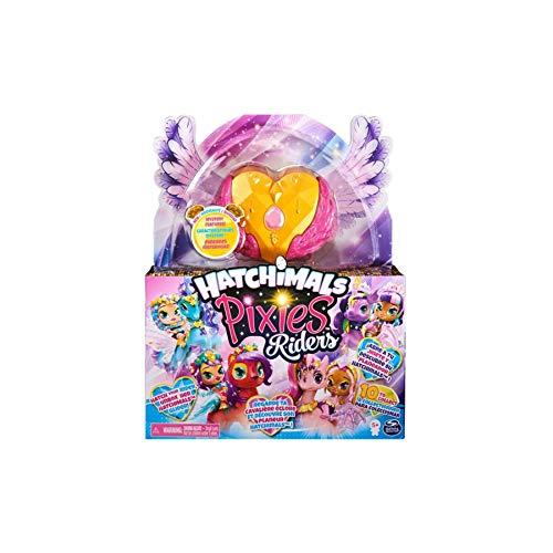 Juego de hatchimal compatible con Toy Galaxy Pixies Riders con función misteriosa juguetes de hadas voladores para niñas de 3 años en adelante - Gold Shimmer Charlotte Reemplazo para Hatchimals