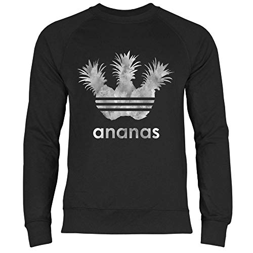 Royal Shirt Herren Sweatshirt Sportliche Ananas grau, Größe:M, Farbe:Black