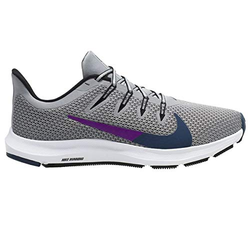 Nike Quest 2, Running Shoe Mujer, Gris Humo/Azul Valeriana/Negro, 37.5 EU