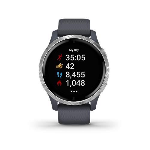 Garmin Venu - Reloj inteligente GPS con una elegante pantalla brillante para un estilo de...