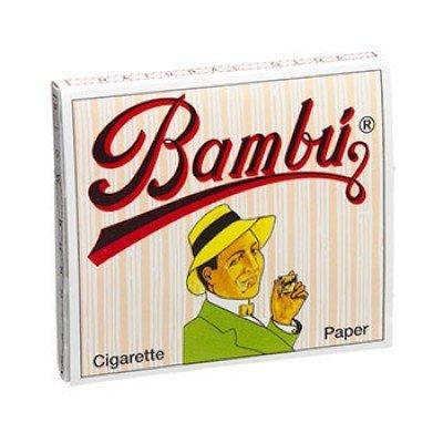 """Bambu Regular 1-1/4"""" Rolling Paper, Pack of 5 Booklets"""