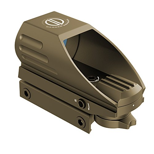 -Combat Vet Owned Company- DDHT Series red dot Optic-Reflex Sight-Combat Vet Owned Company- for Sighting and Sport (tan)