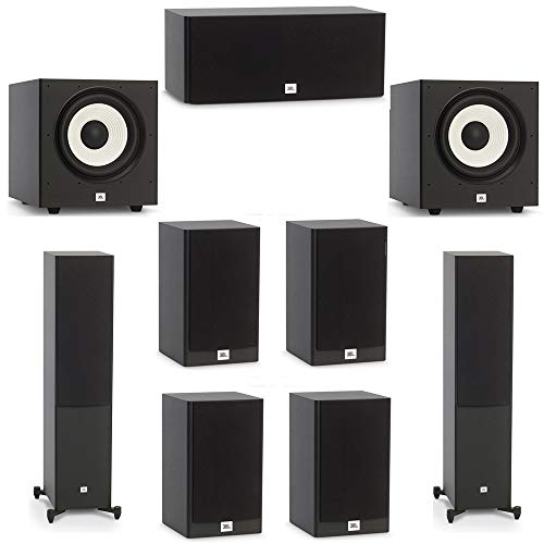 Lowest Price! JBL 7.2 System with 2 JBL Stage A180 Floorstanding Speakers, 1 JBL Stage A125C Center ...