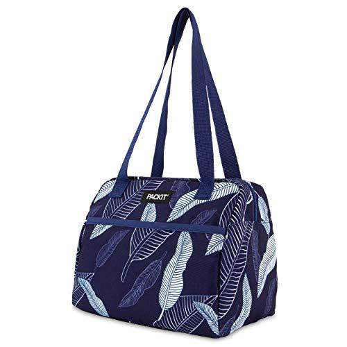 Packit 2221 Freezable Hampton-Fiambrera, diseño de hojas, color azul marino