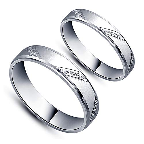 ペアリング 2本セット シルバー925 指輪 シンプル 上品 おしゃれ マリッジリング 結婚指輪 2本セット価格 Silver 925 バレンタイン ホワイトデー 男性 女性 あらし カップル 恋人セット S009 (メンズ18号, レディース11号)