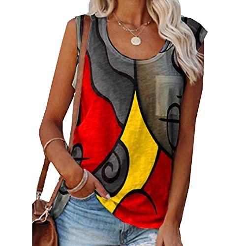 Camiseta Casual Sin Mangas A Juego De Color para Mujer, Camiseta De Talla Grande