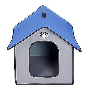 Zhyaj Casa Perro Grande Caseta Perros Exterior A Prueba de Lluvia e Impermeable Guay Respirable Plegable Mordida Resistente Esquina Reforzada No tóxico y sin Sabor,A,3
