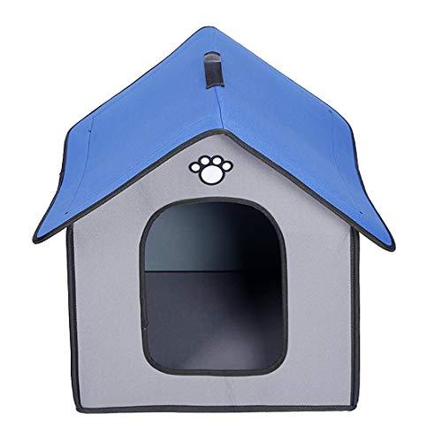 Zhyaj Casa Perro Grande Caseta Perros Exterior A Prueba de Lluvia e Impermeable Guay Respirable Plegable Mordida Resistente Esquina Reforzada No tóxico y sin Sabor,A,1