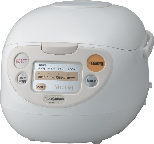 Zojirushi NS-WXC10 Micom Rice Cooker and Warmer, 5.5 Cups