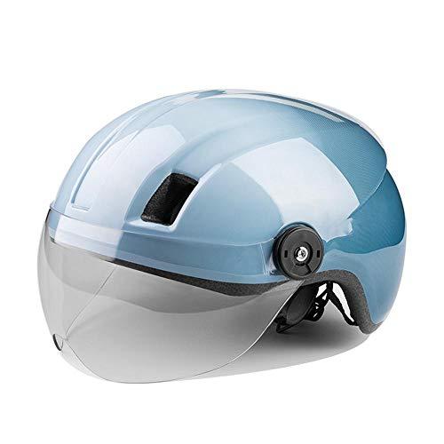 Helm ZWRY Fahrradhelm Elektrofahrradhelm MTB Rennradhelm mit Schutzbrille Motercycle Schutzhelm Schutz 1-BW